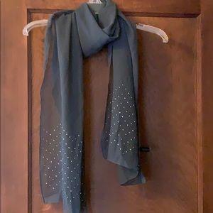 NWOT lane Bryant gray scarf with embellishments!